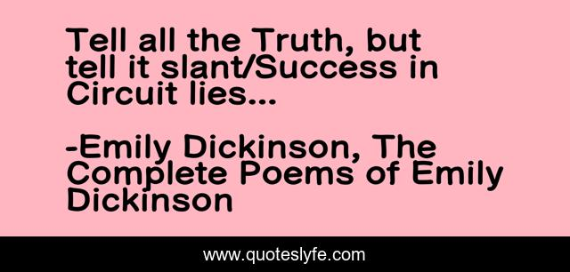 Tell all the Truth, but tell it slant/Success in Circuit lies...