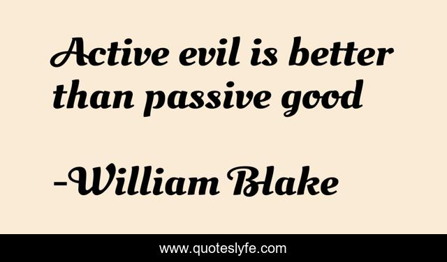 Active evil is better than passive good