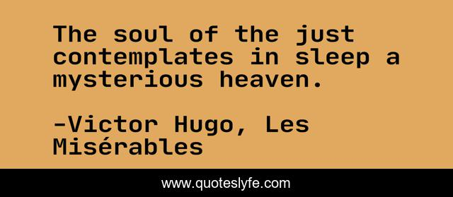 The soul of the just contemplates in sleep a mysterious heaven.