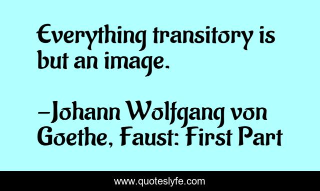 Everything transitory is but an image.