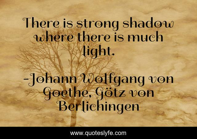 There is strong shadow where there is much light.