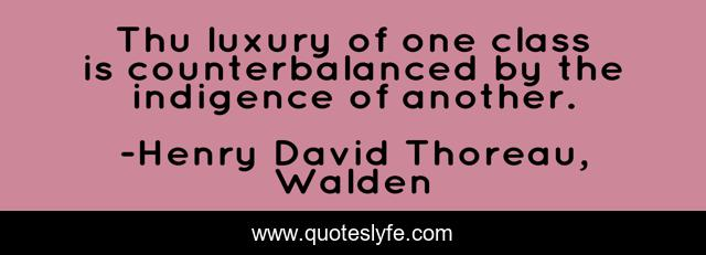 Thu luxury of one class is counterbalanced by the indigence of another.