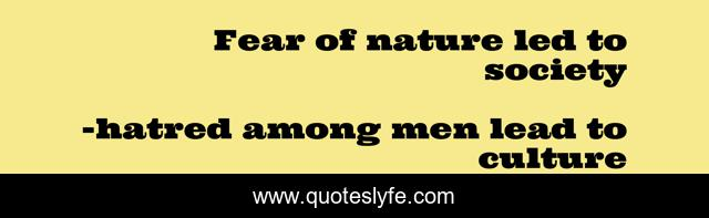 Fear of nature led to society
