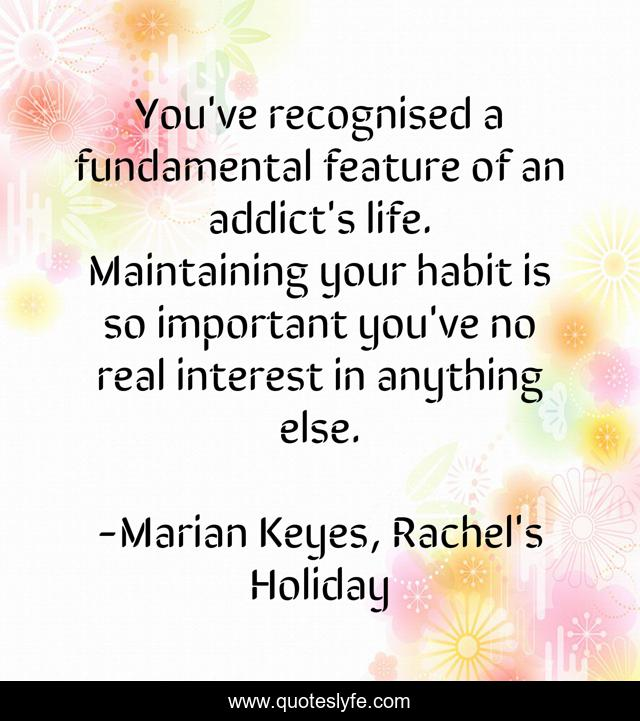 You've recognised a fundamental feature of an addict's life. Maintaining your habit is so important you've no real interest in anything else.