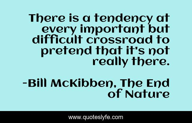 There is a tendency at every important but difficult crossroad to pretend that it's not really there.