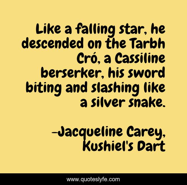 Like a falling star, he descended on the Tarbh Cró, a Cassiline berserker, his sword biting and slashing like a silver snake.