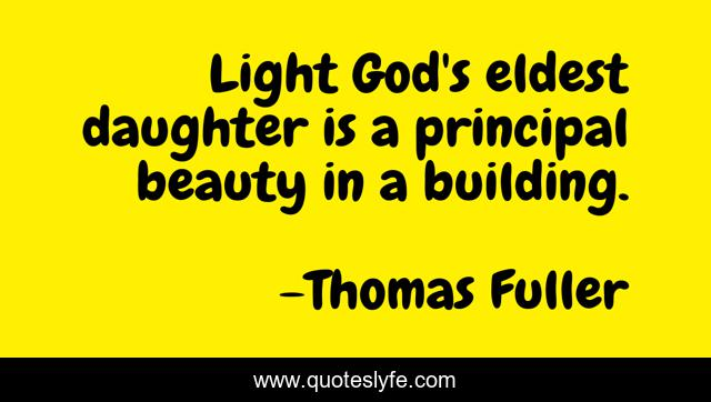 Light God's eldest daughter is a principal beauty in a building.