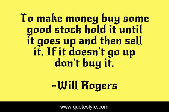 To make money buy some good stock hold it until it goes up and then sell it. If it doesn't go up don't buy it.