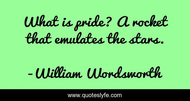 What is pride? A rocket that emulates the stars.