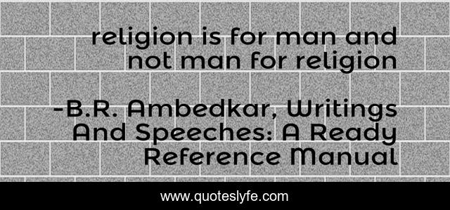religion is for man and not man for religion