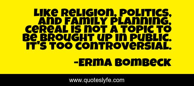 Like religion, politics, and family planning, cereal is not a topic to be brought up in public. It's too controversial.