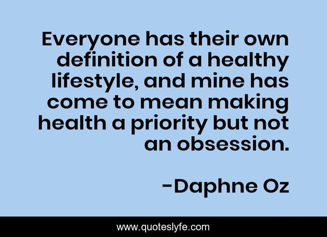 Everyone has their own definition of a healthy lifestyle, and mine has come to mean making health a priority but not an obsession.