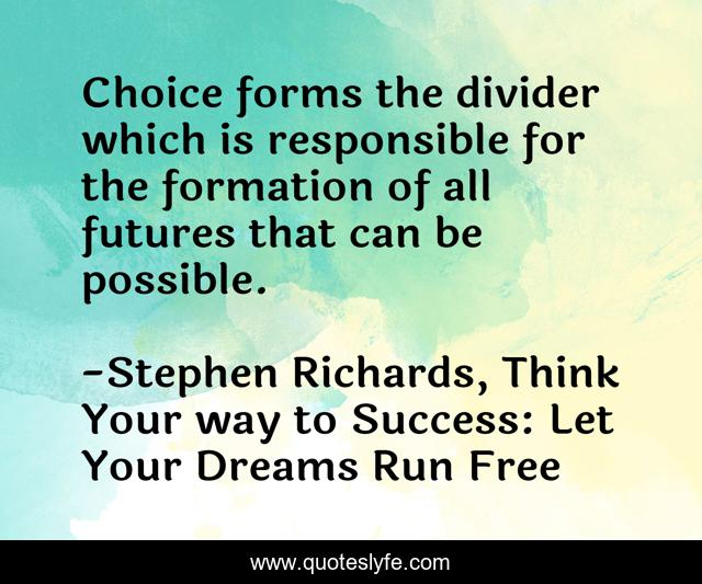 Choice forms the divider which is responsible for the formation of all futures that can be possible.