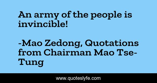 An army of the people is invincible!