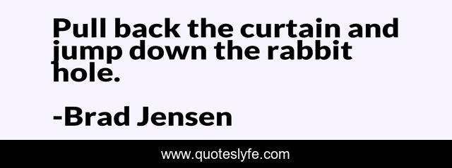 Pull back the curtain and jump down the rabbit hole.