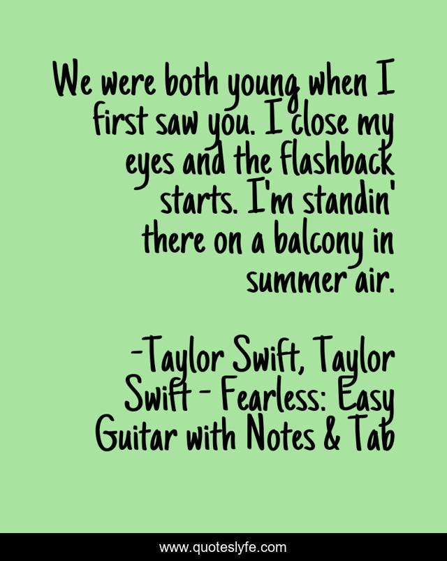 Best Taylor Swift Taylor Swift Fearless Easy Guitar With Notes Tab Quotes With Images To Share And Download For Free At Quoteslyfe