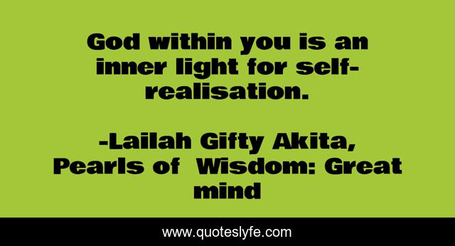 God within you is an inner light for self-realisation.