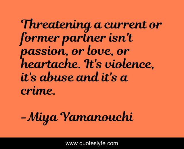 Crime quotes in partner love The Spouse