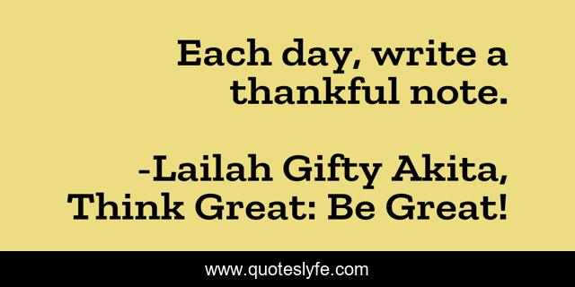 Each day, write a thankful note.