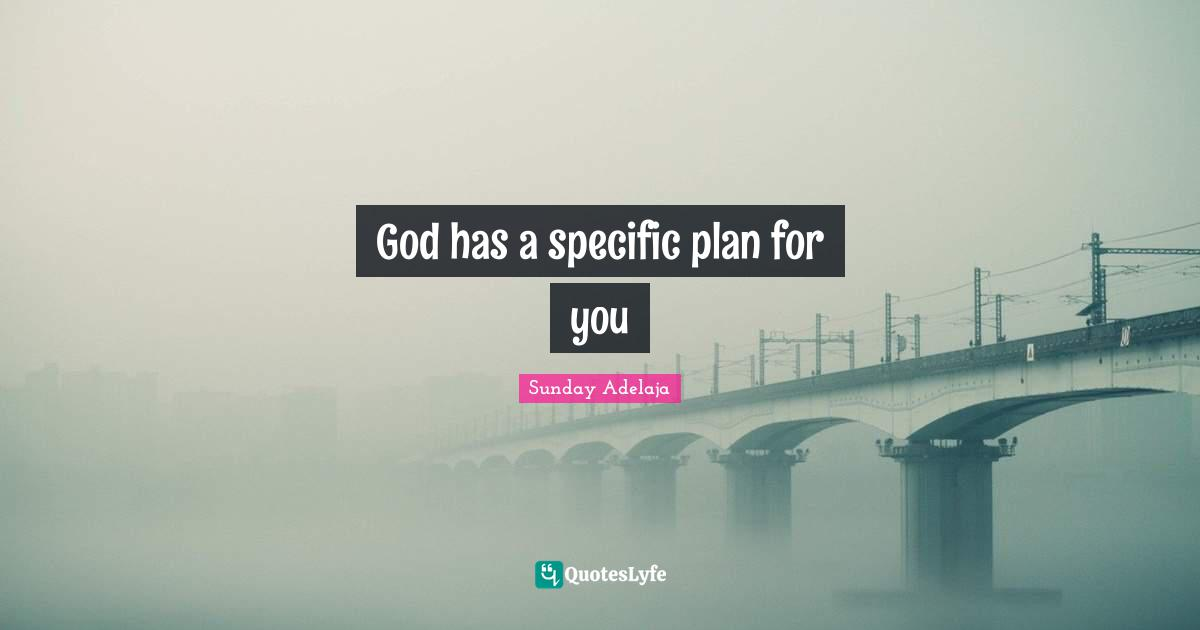 Sunday Adelaja Quotes: God has a specific plan for you